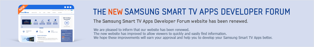 The Samsung D Forum introduces UX Guideline. The updated contents in the UX Guideline Will help you to develop the Samsung Smart TV App better than ever. You can also bookmark th find a page whenever you need to look at the content in UX Guideline quickly and easily.